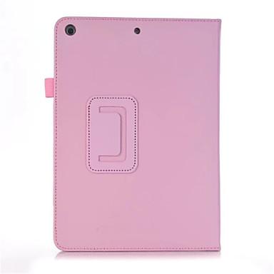 غطاء من أجل Apple iPad Air 2 ضد الصدمات مع حامل قلب مغناطيس غطاء كامل للجسم لون الصلبة قاسي جلد PU إلى iPad Air 2 iPad 9.7 (2017) Apple