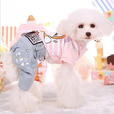 Tricou Îmbrăcăminte Câini Desene Animate Galben / Albastru / Roz Bumbac Costume Pentru animale de companie Vară Bărbați / Pentru femei Casul / Zilnic