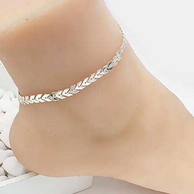 ieftine Bijuterii de Corp-Pentru femei Brățară Gleznă picioare bijuterii Clasic Chainul gros Leaf Shape Ieftin femei Modă Brățară Gleznă Bijuterii Auriu / Argintiu Pentru Zilnic Casual