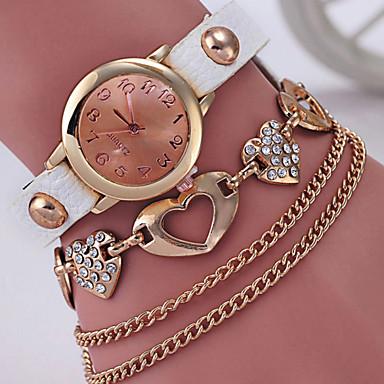 여성용 석영 모조 다이아몬드 시계 팔찌 시계 캐쥬얼 시계 합금 밴드 우아한 패션 블랙 화이트 블루 레드 그린 로즈