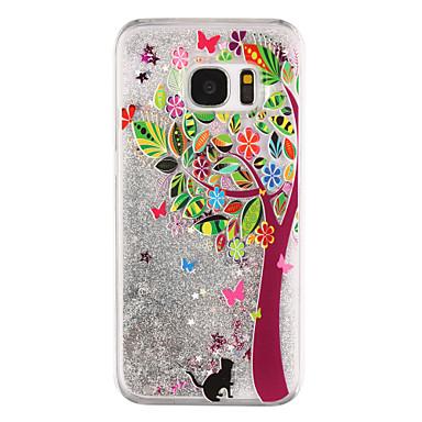 Maska Pentru Samsung Galaxy S8 Plus S8 Scurgere Lichid Transparent Model Carcasă Spate Transparent Copac Luciu Strălucire Greu PC pentru