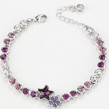 Dames Armbanden met ketting en sluiting Sieraden Vintage Natuur Modieus Met de Hand Gemaakt Kristal Legering Strikvorm Sieraden Voor