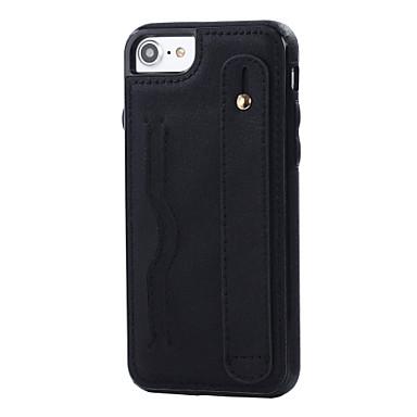 Voor apple iphone 7 7 plus case cover kaart stijl handrem leren tas telefoon hoesje
