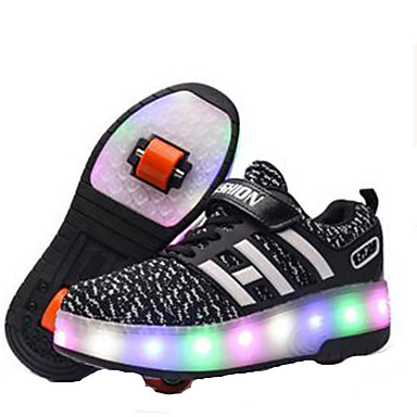 Kinderen LED-licht Skateschoenen Lichtgewicht materiaal blauw/Zwart/Blozend Roze