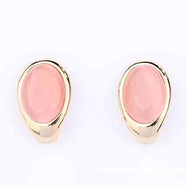Dames Oorbel Synthetische Opaal Gepersonaliseerde Uniek ontwerp Euramerican Modieus Synthetische Edelstenen Legering Ovalen vorm Sieraden