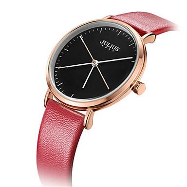 Damen Modeuhr Armband-Uhr Japanisch Quartz Wasserdicht Leder Band Freizeit Schwarz Weiß Blau Rot Braun