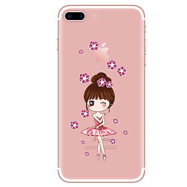 Hoesje voor iphone 7 7 plus cartoon patroon tpu zachte achterkant voor iphone 6 plus 6s plus iphone 5 se 5s 5c 4s
