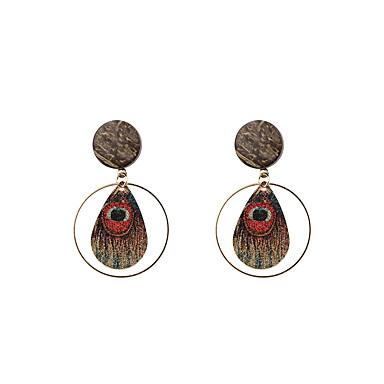 Dames Druppel oorbellen Sieraden Gepersonaliseerde Cirkelvormig ontwerp Euramerican Modieus Eenvoudige Stijl Legering Rond Sieraden