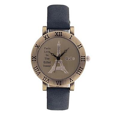 Dames Modieus horloge Kwarts PU Band Zwart Blauw Bruin