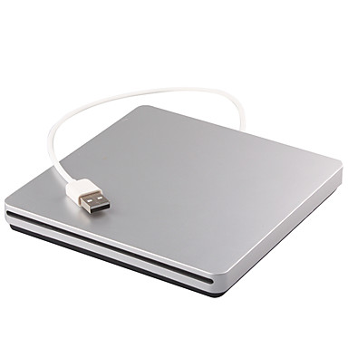 abordables Câbles pour Mac-Lecteur de CD externe / Lecteur de DVD externe / DVD ROM USB 2.0 Lecteur lecteur Graveur enregistreur 12.7mm