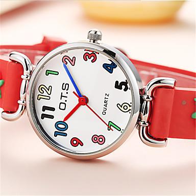 Heren Digitaal horloge Chinees Kwarts Rubber Band Informeel Blauw Rood Roze