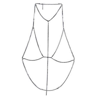 للمرأة مجوهرات الجسم  سلسلة الجسم / سلسلة البطن فضة الاسترليني فضي Geometric Shape قديم بوهيميان الطبيعة الصداقة مجوهرات فيلم مصنوع يدوي