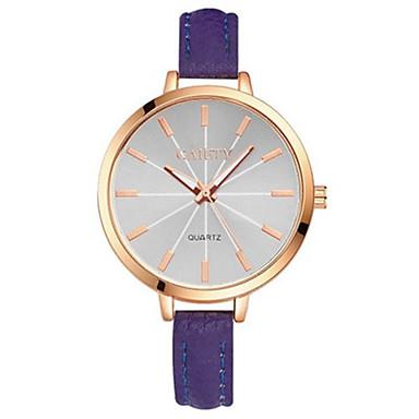 للمرأة ساعة المعصم ساعات فاشن كوارتز ساعة كاجوال PU فرقة أنيقة أسود أزرق بنفجسي
