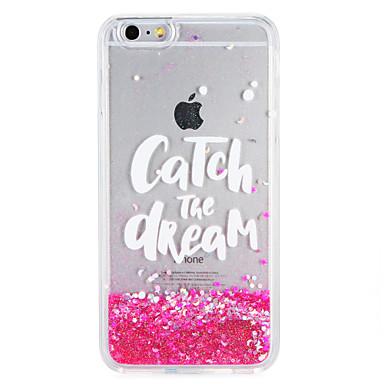 Caz pentru Apple iphone7 7 plus glitter strălucire frază cuvânt care curge lichid model moale tpu 6s plus 6 plus 6s 6