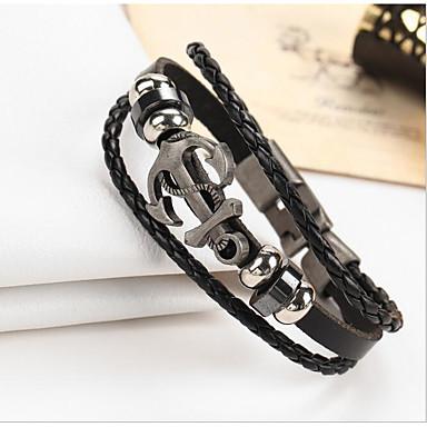 Heren / Dames Lederen armbanden - Leder Vintage Armbanden Zwart / Bruin Voor Lahja
