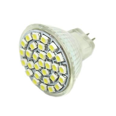 2w g4 gu4 (mr11) gz4 led spotlight mr11 30 smd 3528 140-180lm warm wit 6000-7500k dc 12v