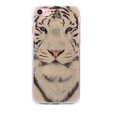 Pentru Apple iphone 7 7plus caz cove alb tigru model flash praf imd proces tpu material caz telefon iphone 6 6s plus se 5s 5