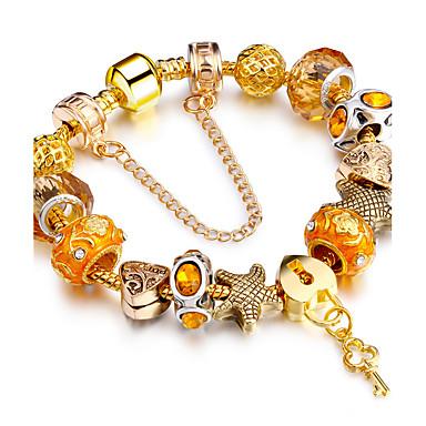 Dames Strand Armbanden Vriendschap Modieus Stretch Doe-het-zelf Movie Jewelry Luxe Sieraden Verguld LegeringCirkelvorm Ronde vorm