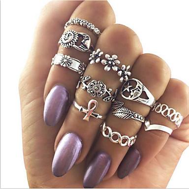 للمرأة خواتم ميدي عتيقة كوستيوم سبيكة مجوهرات من أجل يوميا