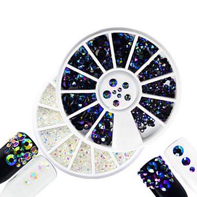2 Nagel-Kunst-Dekoration Strassperlen Make-up kosmetische Nagelkunst Design