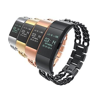 Roestvast staal Klassieke gesp Voor Fitbit Horloge