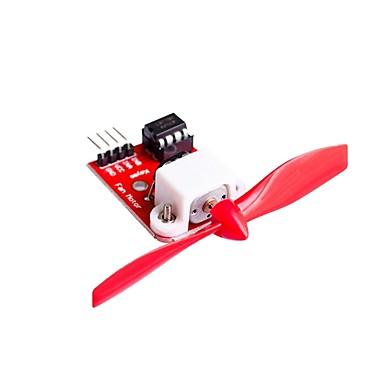 l9110 مروحة المحرك وحدة التحكم مع المروحة لاردوينو مكافحة الحرائق الروبوت تصميم