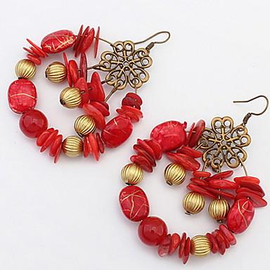 للرجال للمرأة أقراط قطرة مجوهرات مخصص تصميم فريد قديم أساسي مثيرة موضة اسلوب لطيف euramerican في أكريليك سبيكة أخرى مجوهرات زفاف حزب