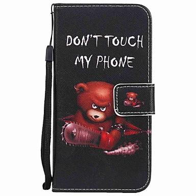 غطاء من أجل هواوي P9 هواوي P9 لايت هواوي P8 Huawei هواوي P8 لايت حامل البطاقات محفظة مع حامل قلب نموذج غطاء كامل للجسم حيوان قاسي جلد PU