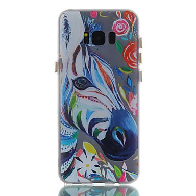 Maska Pentru Samsung Galaxy S8 Plus S8 Stralucire in intuneric Mătuit Model Carcasă Spate Animal Desene Animate Floare Moale TPU pentru