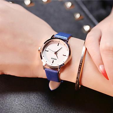 Dames Unieke creatieve horloge Polshorloge Modieus horloge Vrijetijdshorloge Kwarts Leer Band Amulet Luxe Creatief Informeel Elegant Cool