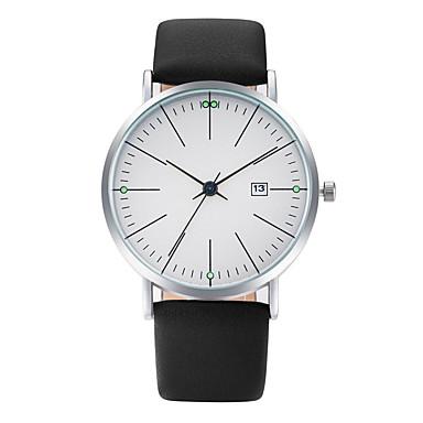 Herrn Modeuhr Armbanduhr Armbanduhren für den Alltag Chinesisch Quartz Kalender PU Band Freizeit Cool Elegant Schwarz Blau Grau