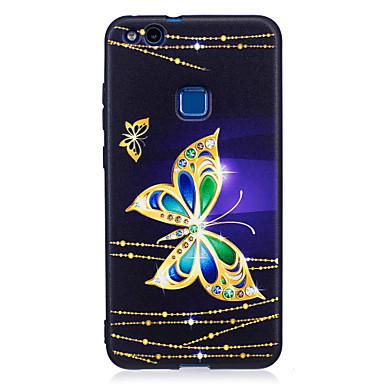 Hülle Für Huawei Muster Rückseitenabdeckung Schmetterling Weich TPU für Huawei P10 Lite Huawei P10 Huawei P9 Lite Huawei P8 Lite (2017)