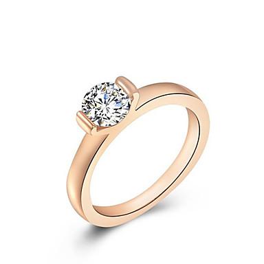 Жен. Заявление - Сплав Мода Стандартный размер Розовое золото Назначение Свадьба / Офис и карьера