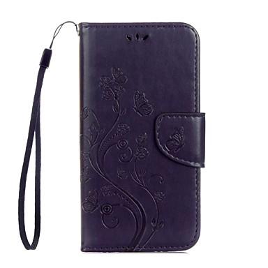Hülle Für Samsung Galaxy S8 Plus S8 Kreditkartenfächer mit Halterung Flipbare Hülle Geprägt Ganzkörper-Gehäuse Blume Hart PU-Leder für S8