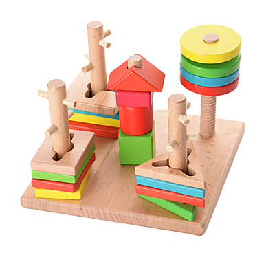 ألعاب الألغاز ألعاب لهو الخشب الطبيعي للأطفال قطع