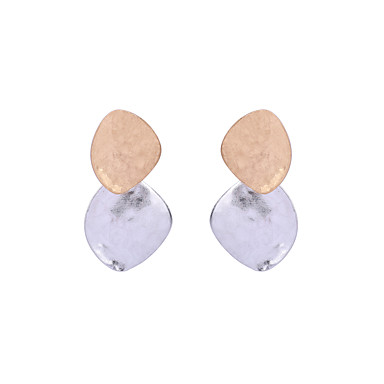 للمرأة أقراط الزر مجوهرات تصميم بسيط تصميم فريد هندسي عبور أسلوب بانك سبيكة Geometric Shape مجوهرات من أجلعيد ميلاد حفلة/سهرة