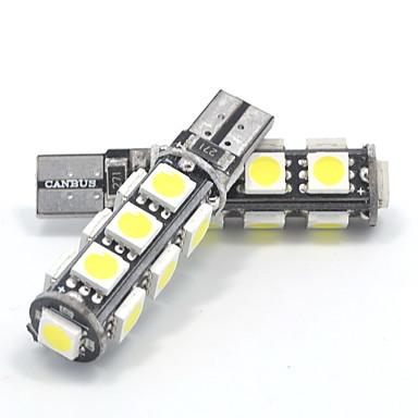 1.3 واط dc12v الأبيض t10 13smd 5050 150-160 ملليلتر كانبوس عرض مصباح مصباح الزخرفية مصباح ضوء الجانب ماركر ضوء 2 قطع
