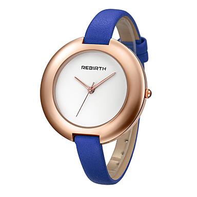 REBIRTH Dames Modieus horloge Kwarts PU Band Zwart Blauw Rood Orange Bruin
