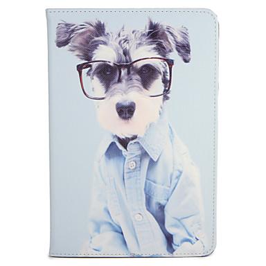 Für Apfel ipad mini1 2 3/4 Fallabdeckung mit Standplatz-Flipmuster Ganzkörper-Kasten Hund hartes PU-Leder