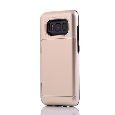 hoesje Voor Samsung Galaxy S8 Plus S8 Kaarthouder Schokbestendig Achterkantje Effen Kleur Schild Hard PC voor S8 S8 Plus