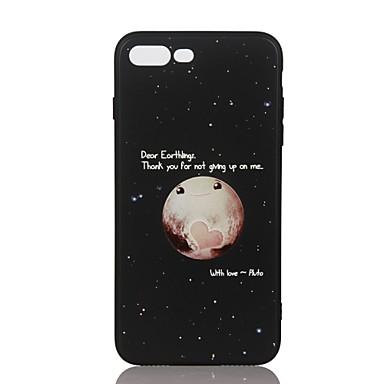 من أجل أغط / كفرات نموذج مطرز غطاء خلفي غطاء سماء ناعم TPU إلى Apple فون 7 زائد فون 7 iPhone 6s Plus iPhone 6 Plus iPhone 6s أيفون 6