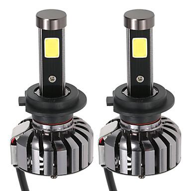 Kkmoon paar h7 dc 12v 40w 4000lm 6000k led koplamp lamp knipperlampen