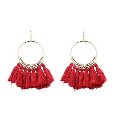 Dames Druppel oorbellen Sieraden Euramerican Kostuum juwelen Modieus PERSGepersonaliseerd Poly / Katoen Legering Cirkelvorm Sieraden Voor