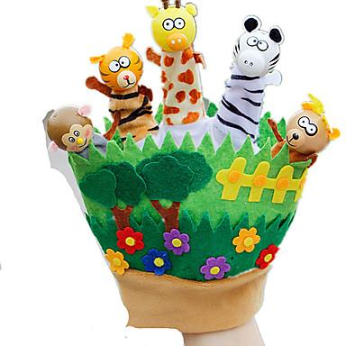 Vingerpoppetjes Poppen Speeltjes Rabbit Dier Schattig Dieren tactel Pluche Kinderen Stuks