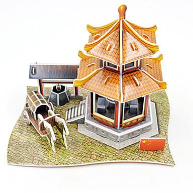 puzzle-uri Puzzle 3D Blocuri de pereti DIY Jucarii Arhitectură Hârtie Jucărie de Construit & Model