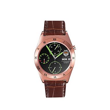 Herrn Sportuhr Smart Watch digital Kalender Wasserdicht Legierung Leder Band Silber Braun