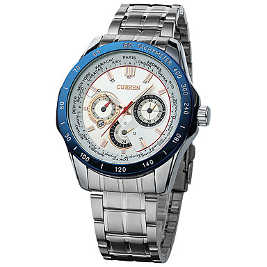 Herrn Sportuhr Kleideruhr Modeuhr Armbanduhr Einzigartige kreative Uhr Chinesisch Quartz Kalender Wasserdicht Großes Ziffernblatt Metall