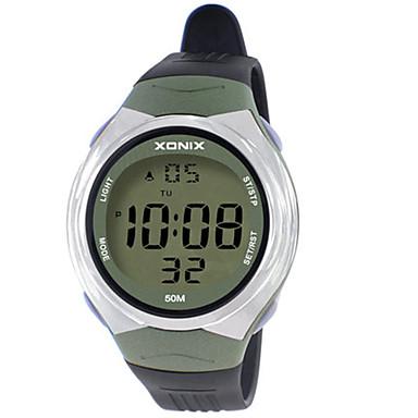 للرجال ساعة رياضية رقمي مقاوم للماء قضية مطاط فرقة أخضر