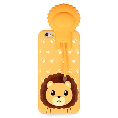 hoesje Voor Apple iPhone 7 Plus iPhone 7 Patroon Achterkant 3D Cartoon dier Zacht TPU voor iPhone 7 Plus iPhone 7 iPhone 6s Plus iPhone