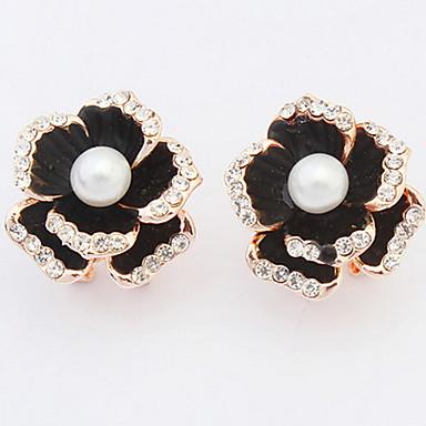 Dames Oorknopjes Druppel oorbellen Ring oorbellen Imitatie Parel Synthetische Diamant Gepersonaliseerde Bloemen Religieuze sieraden Luxe